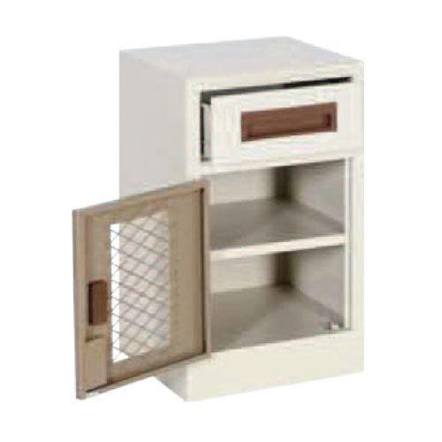 Basic Model Bedside Locker with Mesh Doors