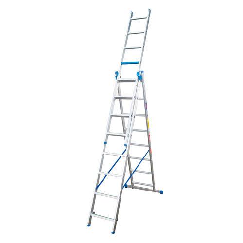 FSE Range - Industrial Duty 5 – In – 1 Step Extension Aluminium Ladder