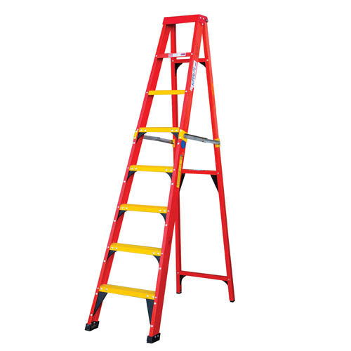 LFG Range - Heavy Duty Single Sided A Frame Ladder with Fibreglass Tread