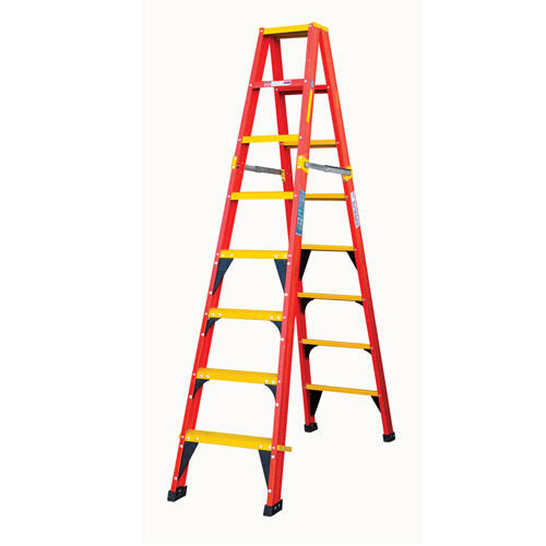LFGDS Range -Heavy Duty Double Sided A Frame Ladder with Fibreglass Tread