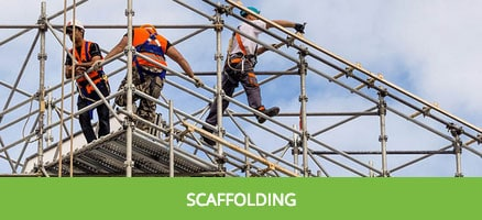 work at hight equipment scaffolding